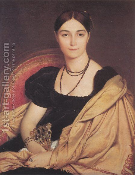 Madame Duvaucey by Jean Auguste Dominique Ingres - Reproduction Oil Painting