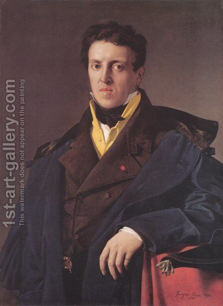 Charles-Marie-Jean-Baptiste Marcotte (Marcotte d'Argenteuil) by Jean Auguste Dominique Ingres - Reproduction Oil Painting