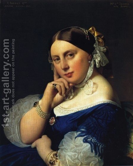 Delphine Ramel, Madame Ingres by Jean Auguste Dominique Ingres - Reproduction Oil Painting