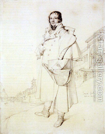 Charles François Mallet by Jean Auguste Dominique Ingres - Reproduction Oil Painting