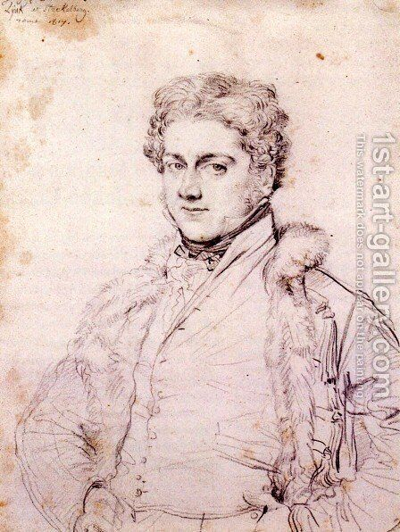 Charles Robert Cockerell by Jean Auguste Dominique Ingres - Reproduction Oil Painting