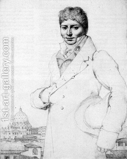Dr. Jean Louis Robin by Jean Auguste Dominique Ingres - Reproduction Oil Painting