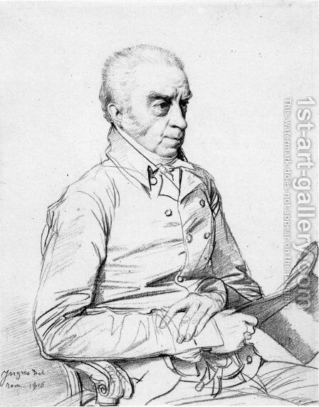 Dr. Thomas Church by Jean Auguste Dominique Ingres - Reproduction Oil Painting