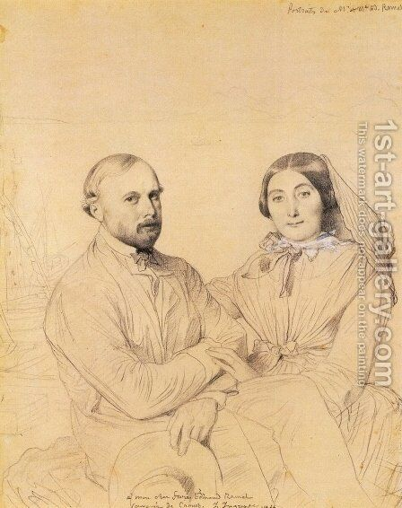 Edmond Ramel and his wife, born Irma Donbernard by Jean Auguste Dominique Ingres - Reproduction Oil Painting