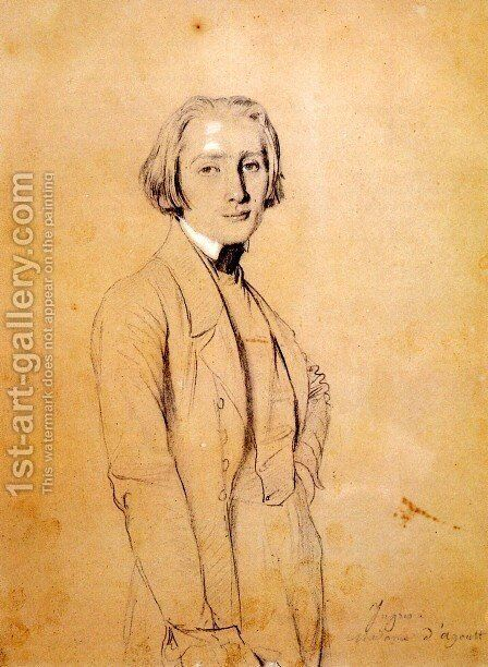 Franz Liszt by Jean Auguste Dominique Ingres - Reproduction Oil Painting