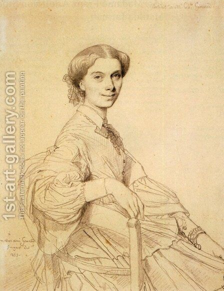 Madame Charles Gounod, born Anna Zimmermann by Jean Auguste Dominique Ingres - Reproduction Oil Painting