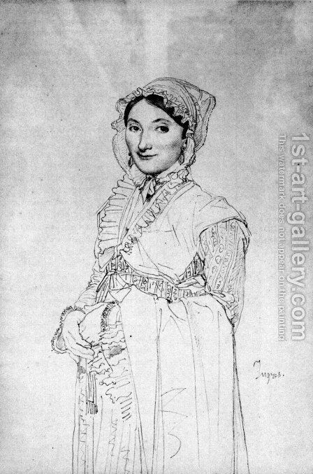 Madame Charles Hayard, born Jeanne Susanne by Jean Auguste Dominique Ingres - Reproduction Oil Painting