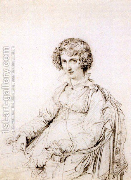 Mrs Charles Thomas Thruston, born Frances Edwards by Jean Auguste Dominique Ingres - Reproduction Oil Painting