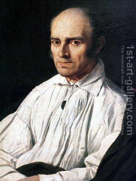 Pere Desmarets by Jean Auguste Dominique Ingres - Reproduction Oil Painting