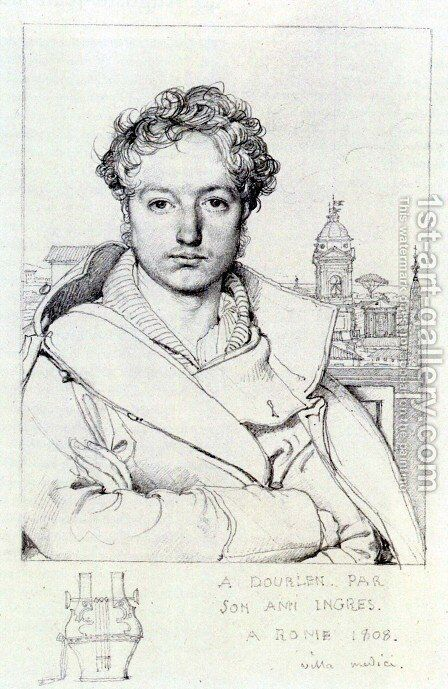 Victor Dourlen by Jean Auguste Dominique Ingres - Reproduction Oil Painting