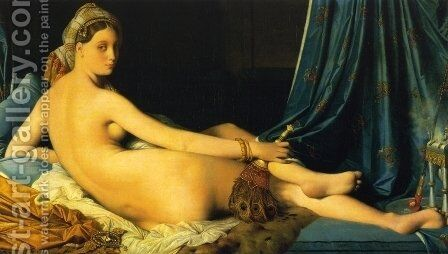The Grande Odalisque by Jean Auguste Dominique Ingres - Reproduction Oil Painting