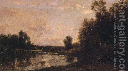 A June Day by Charles-Francois Daubigny - Reproduction Oil Painting
