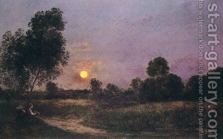 Unknown by Charles-Francois Daubigny - Reproduction Oil Painting