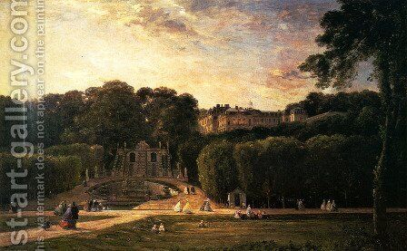 The Park At St. Cloud by Charles-Francois Daubigny - Reproduction Oil Painting