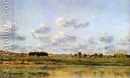 Banks Of The Loing by Charles-Francois Daubigny - Reproduction Oil Painting