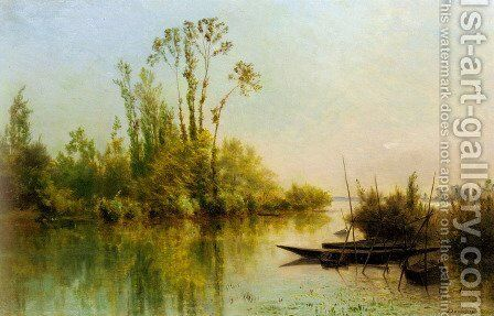 Les Iles Vierges a Bezons by Charles-Francois Daubigny - Reproduction Oil Painting