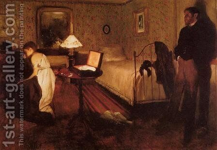 Interior (or The Rape) by Edgar Degas - Reproduction Oil Painting