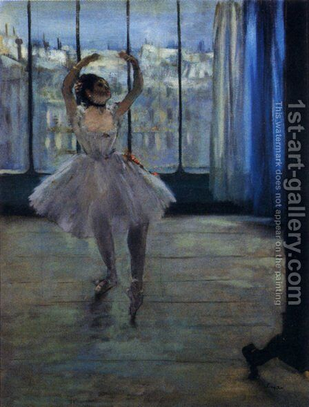 Dancer At The Photographer's Studio by Edgar Degas - Reproduction Oil Painting