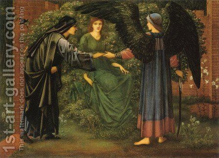 The Heart of the Rose by Sir Edward Coley Burne-Jones - Reproduction Oil Painting
