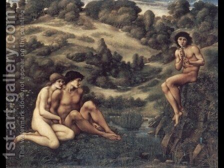 The Garden of Pan by Sir Edward Coley Burne-Jones - Reproduction Oil Painting