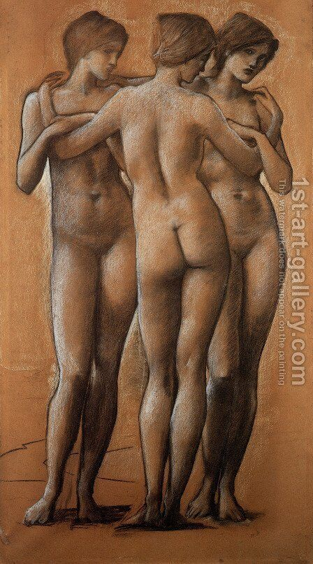 The Three Graces by Sir Edward Coley Burne-Jones - Reproduction Oil Painting