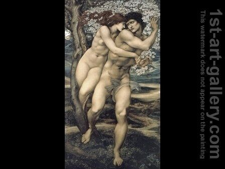 The Tree of Forgiveness by Sir Edward Coley Burne-Jones - Reproduction Oil Painting