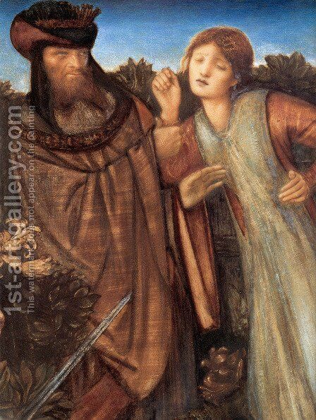 King Mark and La Belle Iseult [detail] by Sir Edward Coley Burne-Jones - Reproduction Oil Painting