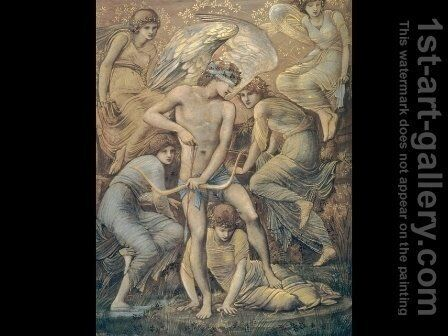 Cupid's Hunting Fields by Sir Edward Coley Burne-Jones - Reproduction Oil Painting
