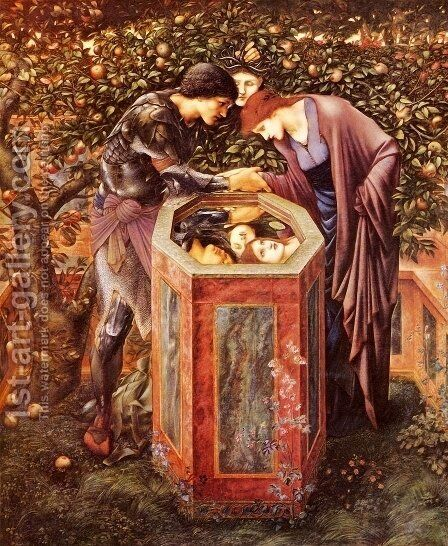 The Baleful Head by Sir Edward Coley Burne-Jones - Reproduction Oil Painting