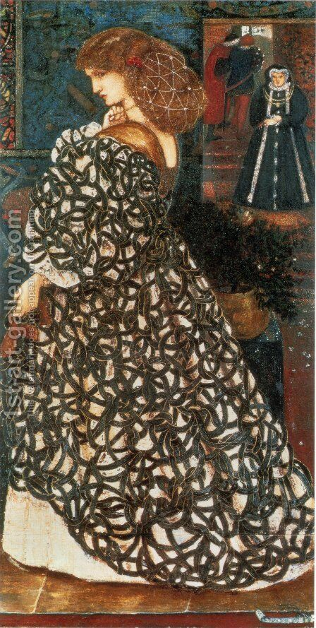 Sidonia von Bork by Sir Edward Coley Burne-Jones - Reproduction Oil Painting