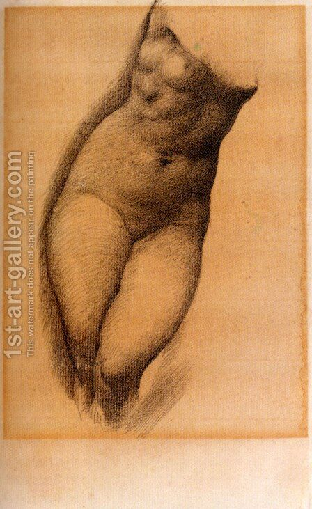 Study For The Figure Of Phyllis In 'The Tree Of Forgiveness' by Sir Edward Coley Burne-Jones - Reproduction Oil Painting