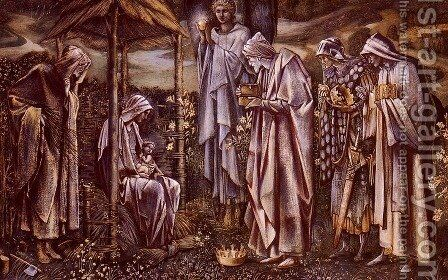 The Star Of Bethlehem by Sir Edward Coley Burne-Jones - Reproduction Oil Painting