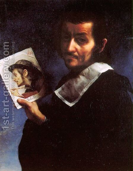 Portrait of Ainolfo de' Bardi by Carlo Dolci - Reproduction Oil Painting