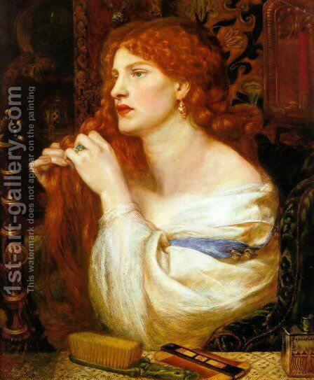 Aurelia (Fazio's Mistress) by Dante Gabriel Rossetti - Reproduction Oil Painting