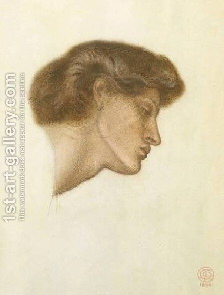 Dante's Dream at the Time of the Death of Beatrice - study by Dante Gabriel Rossetti - Reproduction Oil Painting