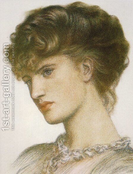 Portrait of a Lady by Dante Gabriel Rossetti - Reproduction Oil Painting