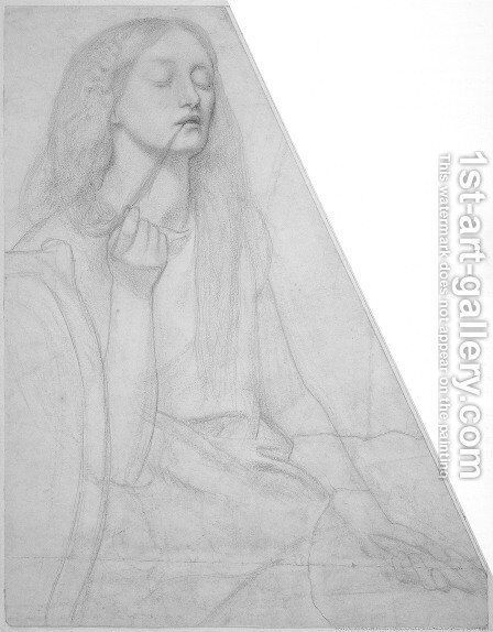 The Return of Tibullus to Delia: study for Delia by Dante Gabriel Rossetti - Reproduction Oil Painting