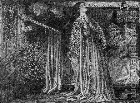 Sir Launcelot in the Queen's Chamber by Dante Gabriel Rossetti - Reproduction Oil Painting