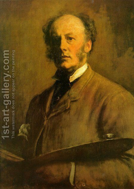 Self-Portrait by Sir John Everett Millais - Reproduction Oil Painting