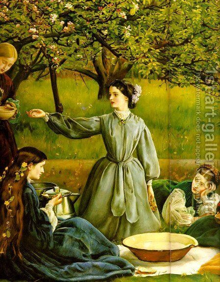 Apple Blossoms (Spring) - detail II by Sir John Everett Millais - Reproduction Oil Painting
