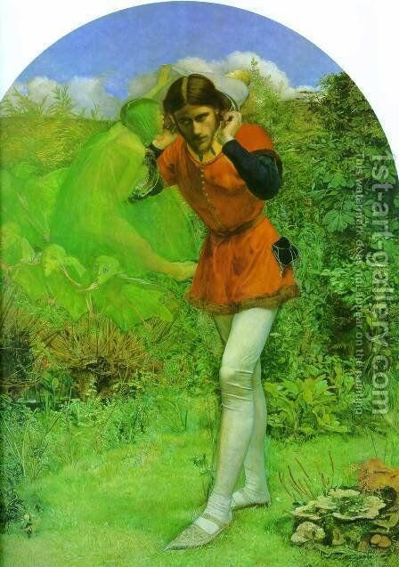 Ferdinand Lured by Ariel by Sir John Everett Millais - Reproduction Oil Painting