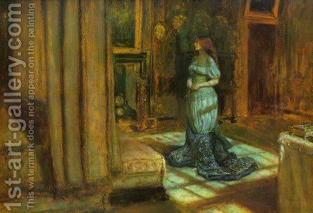 The Eve of St. Agnes by Sir John Everett Millais - Reproduction Oil Painting