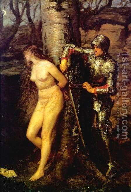 The Knight Errant by Sir John Everett Millais - Reproduction Oil Painting