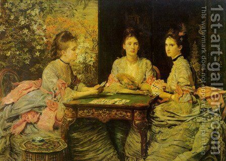 Hearts are Trumps by Sir John Everett Millais - Reproduction Oil Painting