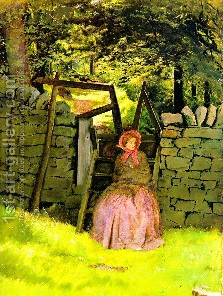 Waiting by Sir John Everett Millais - Reproduction Oil Painting