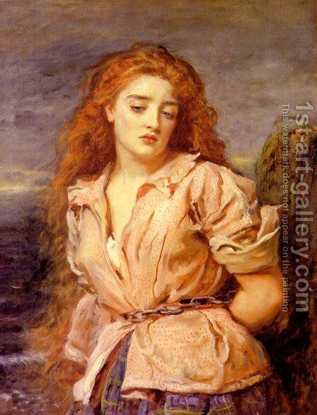 The Matyr of the Solway by Sir John Everett Millais - Reproduction Oil Painting