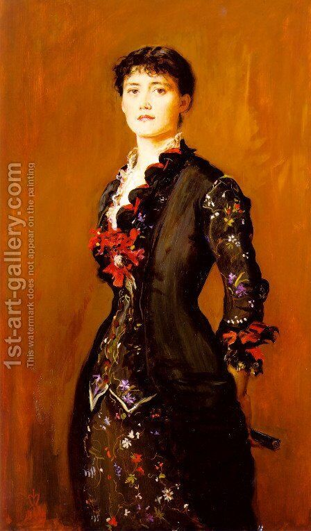 Louise Jopling by Sir John Everett Millais - Reproduction Oil Painting