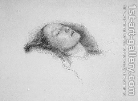 Elizabeth Siddal: study for Ophelia by Sir John Everett Millais - Reproduction Oil Painting