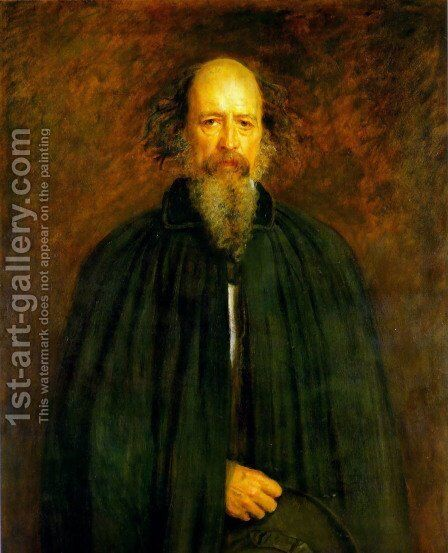 Portrait of Lord Alfred Tennyson by Sir John Everett Millais - Reproduction Oil Painting