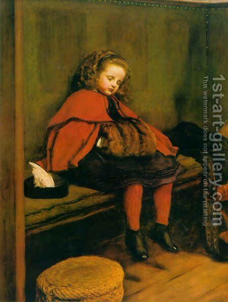 My Second Sermon by Sir John Everett Millais - Reproduction Oil Painting